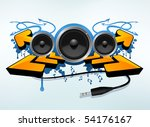 party decoration design | Shutterstock .eps vector #54176167