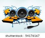 party decoration design | Shutterstock .eps vector #54176167