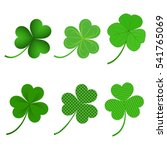 clover leaves vector set... | Shutterstock .eps vector #541765069