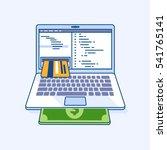 flat line illustration of... | Shutterstock .eps vector #541765141