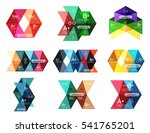 set of color abstract arrow... | Shutterstock .eps vector #541765201