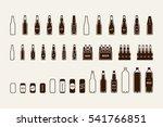 beer package icon set  bottle ... | Shutterstock .eps vector #541766851