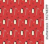 seamless pattern christmas... | Shutterstock .eps vector #541768399