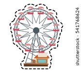isolated ferris wheel design | Shutterstock .eps vector #541768624