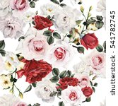 seamless floral pattern with... | Shutterstock . vector #541782745