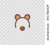 bear ears mask isolated on... | Shutterstock .eps vector #541786429