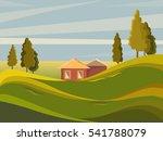 summer landscape. rural... | Shutterstock .eps vector #541788079