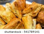 crispy fried patties from puff...   Shutterstock . vector #541789141