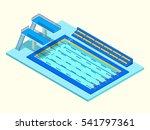 realistic isometric sport pool. ... | Shutterstock .eps vector #541797361
