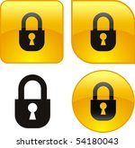 web shiny buttons. aqua style | Shutterstock .eps vector #54180043