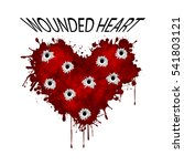 wounded heart | Shutterstock . vector #541803121