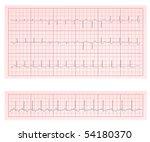 ecg heart chart scan vector...   Shutterstock .eps vector #54180370
