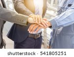 success teamwork concept ... | Shutterstock . vector #541805251