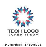 origami logo. origami icon.... | Shutterstock .eps vector #541805881