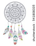 dream catcher with arrow and...   Shutterstock .eps vector #541808335