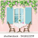 stylish provence street cafe... | Shutterstock .eps vector #541812259