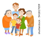 fun cartoon family in colorful... | Shutterstock .eps vector #541817059