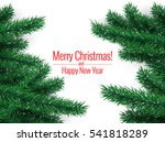 christmas tree. merry christmas ... | Shutterstock .eps vector #541818289