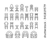 set line icons of chair | Shutterstock .eps vector #541819579