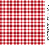 Red Seamless Gingham And...