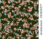 flowery cute pattern in small... | Shutterstock .eps vector #541825477