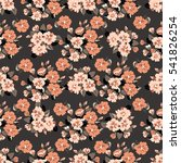 flowery cute pattern in small...   Shutterstock .eps vector #541826254