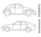 vector  isolated  car book... | Shutterstock .eps vector #541838701