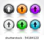 metal web buttons. vector eps10. | Shutterstock .eps vector #54184123