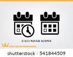 calendar and clock icon vector... | Shutterstock .eps vector #541844509