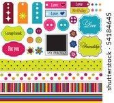 elements for scrap booking | Shutterstock .eps vector #54184645