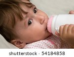 small child with bottle | Shutterstock . vector #54184858