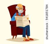 cute cartoon grandfather... | Shutterstock .eps vector #541851784