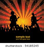 singers and the crowd of fans   ... | Shutterstock .eps vector #54185245