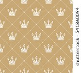 seamless pattern in retro style ... | Shutterstock .eps vector #541860094