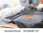 embroidery with embroidery... | Shutterstock . vector #541868719