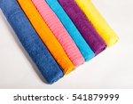 A Stack Of Multi Colored Fluff...