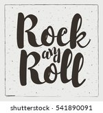 rock and roll sign on a black... | Shutterstock .eps vector #541890091
