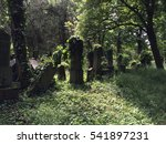 Old Overgrown Gravestones In...