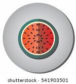icon half ripe red watermelon...   Shutterstock .eps vector #541903501