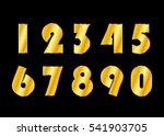 gold 3d metallic numbers set.... | Shutterstock . vector #541903705