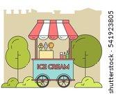 ice cream cart on wheels. sweet ...   Shutterstock .eps vector #541923805