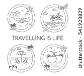 traveling banner set with... | Shutterstock .eps vector #541923829