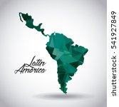 latin america map icon over... | Shutterstock .eps vector #541927849