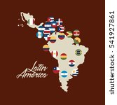 map of latin america with the... | Shutterstock .eps vector #541927861