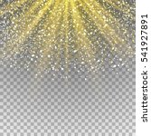 glow light effect. rays with... | Shutterstock .eps vector #541927891