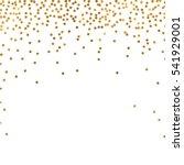 gold glitter background polka... | Shutterstock .eps vector #541929001