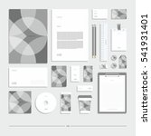 corporate identity  stationery...   Shutterstock .eps vector #541931401