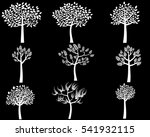 white tree silhouettes with... | Shutterstock .eps vector #541932115