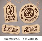 breton vintage labels with... | Shutterstock .eps vector #541938115