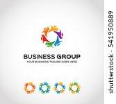 stylish  business group  logo... | Shutterstock .eps vector #541950889